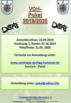 Pokal Saison 2019 / 2020 - Anmeldung